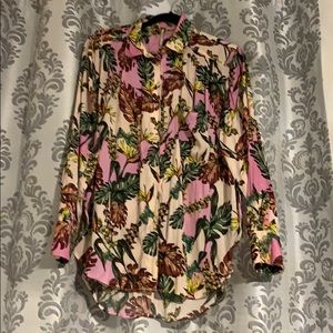 Free People tropical print top size S